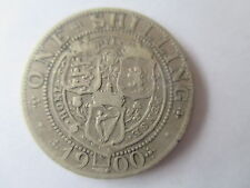 VICTORIA OLD VEILED HEAD SILVER  SHILLING  DATED 1900  F