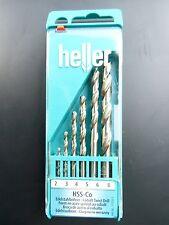 6 Piece Quality Heller German HSS-CO Cobalt drill bit set 2mm 3mm 4mm  5 6 8mm