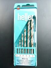 6 Pezzi Di Qualità Heller Tedesco Hss-Co Set punte trapano 2mm 3mm 4mm 5 6 8mm