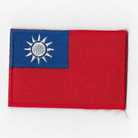 Taiwan National Flag Iron on Patches Embroidered Applique Badge Emblem