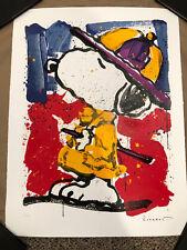 TOM EVERHART signed PRADA PUSS original litho Peanuts SNOOPY Charles Schulz COA