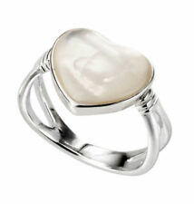 Anelli di lusso con gemme bianchi cuore
