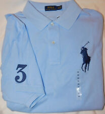 New Men's Polo Ralph Lauren SS Big Pony Polo Shirt Big & Tall Size 3XB
