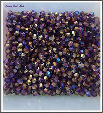Swarovski 4 mm Bicone Crystal Bead - AB Purple