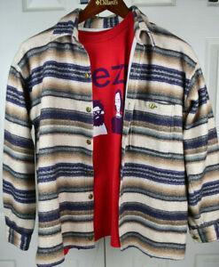 Vtg High Sierra Striped Sweatshirt Cardigan S/M 90s Kurt Cobain Weezer Grunge