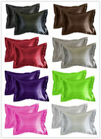 Aiking Home Vibrant Bridal Satin Pillow Cases (Pack of 2), Multi-color & size