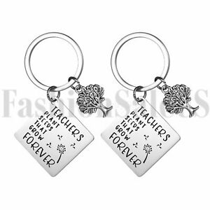 2pcs Mens Womens Stainless Steel Keychain Key Ring Hook For Teachers Gift