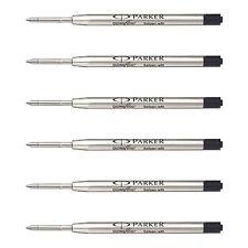 Parker Kugelschreiberminen, Medium Point, schwarze Tinte (6 Stück)