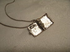 Unique Estate Sterling Silver Holy Bible Book Religious Locket Pendant Charm