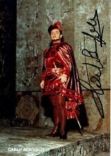 CARLO BERGONZI opera tenor signed photo as Manrico