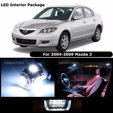 7PCS Cool White Interior LED Bulbs Package Kit for 2004 - 2009 Mazda 3 Mazda3