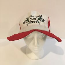 They're Bitin Over There Cap Vintage Novelty Fishing