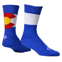 "Save Our Soles ColoRADo 7"" socks, blue 7-9.5"