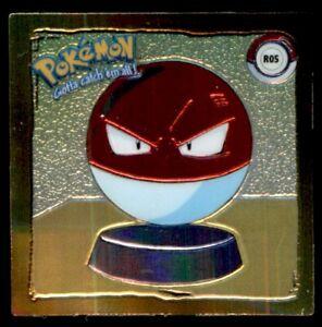 Artbox Pokemon Action Flipz Series One (1999) Chromium Sticker - Voltorb No. R05