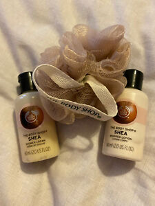 The Body Shop Shea Cube with Bath Lily, Shower Cream & Body Lotion 60ml Each BN