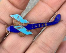 "More details for amy johnson aviator ""jason"" gipsy moth badge. rare stratton enamel badge c1930's"