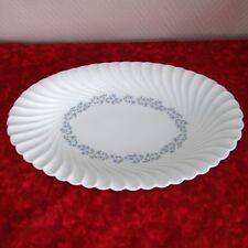 2c3c942d0e395d très grand plat ovale en porcelaine limoges modèle torse Gentiane par  Haviland
