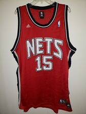96c8029bf Vintage Adidas New Jersey Nets Vince Carter 15 Red Swingman Jersey Mens 2XL  Sewn