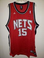 b94476574 Vintage Adidas New Jersey Nets Vince Carter 15 Red Swingman Jersey Mens 2XL  Sewn