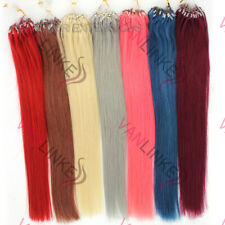 Easy Loop Micro Ring Bead Ombré Remy 100% Human Hair Extensions Thick Straight