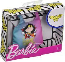 New 2019 Barbie Dc Comics Wonder Woman Fashion Pack Pink & Blue Tee