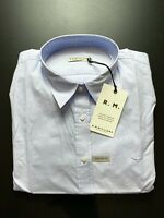 RM Williams Womens Shirt Size 16 Nicole Long Sleeve Blue Button Up RRP $119