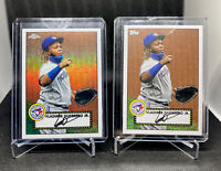 2021 Topps Series 1 Vladimir Guerrero JR 1952 Redux TC52-46 & T53-46 Base Set