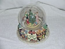 Large Christmas Globe Musical Vintage Collectible Decoration