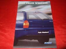 FIAT PALIO WEEKEND 1.2 1.6 16v + 1.9 D prospetto di 2001
