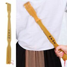US Bamboo Wooden Body Back Massage Stick Roller Back Scratcher Itch Therapeutic