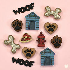 DRESS IT UP Buttons Playful Puppies 7687 Dog Dogs Puppy