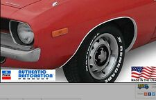 1970 1971 1972 1973 1974 Plymouth Cuda Wheel Opening Moldings Package 70 71 72