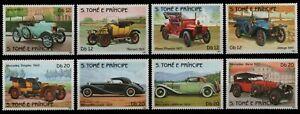 São Tomé & Príncipe 1983 - Mi-Nr. 852-859 A ** - MNH - Autos / Cars