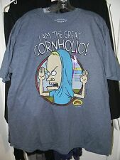 "Beavis and Butthead ""I AM THE GREAT CORNHOILO"" MTV T-shirt Size XXL 2XL"