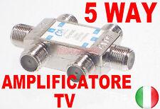 SPLITTER MOLTIPLICATORE SDOPPIATORE SEGNALE TV ANTENNA DIGITALE TERRESTRE 5 VIE