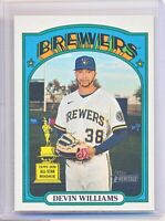 """2021 Topps Heritage Devin Williams RC """"ALL STAR ROOKIE"""" #210 