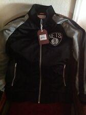 Brooklyn Nets Mitchell&ness MSRP $160.00 Black Nba Track Jacket Size 2XL Men's