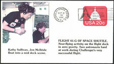 USA 20c FDC FIRST DAY COVER FLIGHT 41-G OF SPACE SHUTTLE - 1984