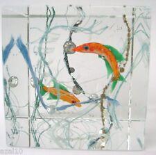 Briefbeschwerer / Glasobjekt / Glasblock Aquarium Böhmen Top Dekoration