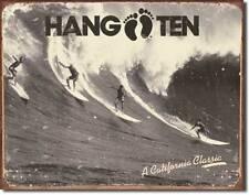 Hang Ten USA Vintage Style California Classic onde equitazione metallo scudo MANIFESTO
