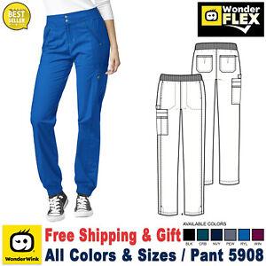 WonderWink Scrub FLEX Women's Utility Waistband Zip Cargo Jogger Pant 5908
