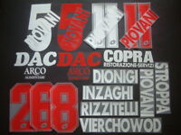 KIT NOME+NUMERO-SPONSOR PIACENZA HOME/AWAY 1997-2001 OFFICIAL NAMESET PLAYER SZ
