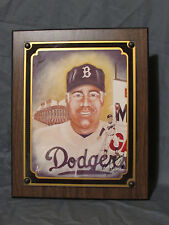 Duke Snider Photo Plaque signed by Artist Scott Forst