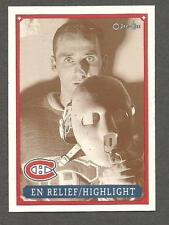 1993 OPC Fanfest Puck Canadiens' Jacques Plante Highlight