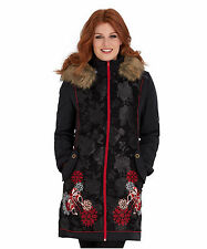 Zip Polyester Floral Coats & Jackets for Women