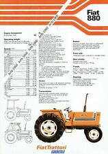 Fiat 880 tractor 2 sided A4 leaflet /Brochure 1979?