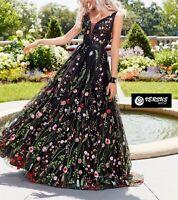 Vestito Lungo Donna Tulle Ricamato Woman Maxi Tulle Embroidered Dress 110397 SD