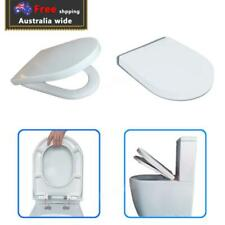 Thick D Shape Heavy Duty Toilet Seat Soft Close Quick Release Universal Bathroom