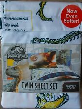 Jurassic World Dinosaur TWIN Sheet Set ~ NWT