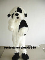 Dog Mascot Long Fur Costume Cosplay Adults Birthday Dress Party Game Fancy Newly